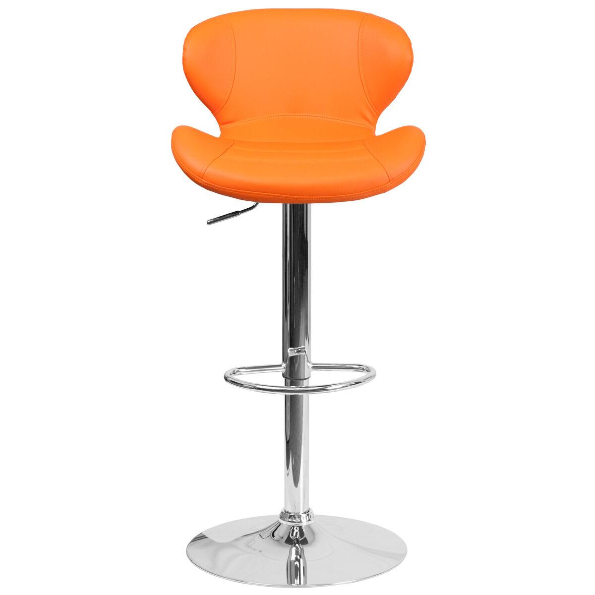 Flash furniture contemporary orange vinyl adjustable for Furniture 321