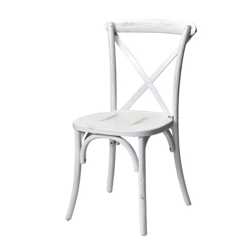 Our Rustic Sonoma Solid Wood Cross Back Stackable Dining Chair - White Wash is on sale now.