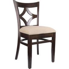 Diamond Back Side Chair in Walnut Wood Finish