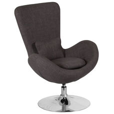 Egg Series Dark Gray Fabric Side Reception Chair