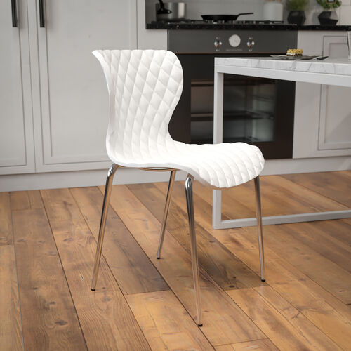 Lowell Contemporary Design White Plastic Stack Chair
