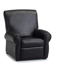 Big Kids Faux Leather Recliner - Black