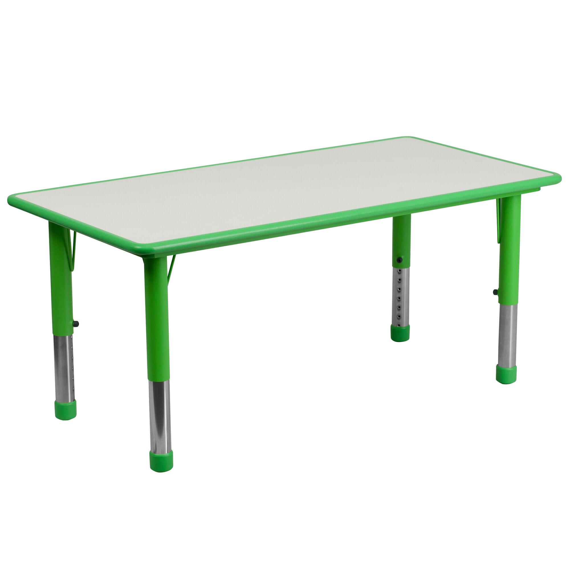 Green Preschool Activity Table Yu Ycy 060 Rect Tbl Green
