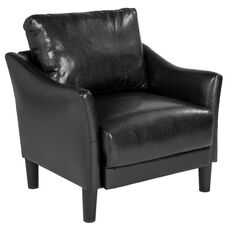 Asti Upholstered Chair in Black Leather