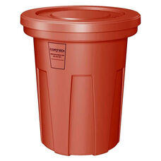 40 Gallon Cobra Food Grade/General Use Trash Can - Red