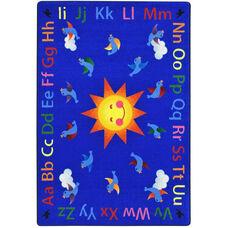 Kid Essentials Alphabet Tweet Nylon Rug with SoftFlex Backing - 92