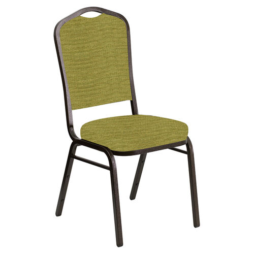 Our Embroidered Crown Back Banquet Chair in Highlands Stone Fabric - Gold Vein Frame is on sale now.