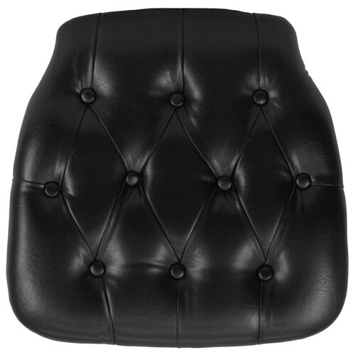 Our Hard Black Tufted Vinyl Chiavari Chair Cushion is on sale now.