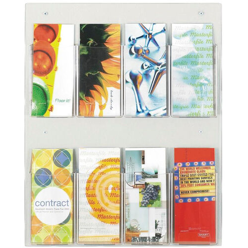 Our Clear2c™ Eight Pamphlet Display with Break Resistant Plastic Pockets - Clear is on sale now.