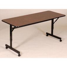 Adjustable Height Rectangular EconoLine Melamine Flip Top Table - 24