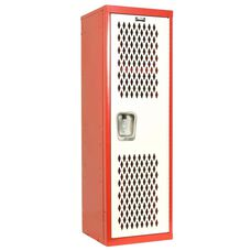 Home Team Locker - Unassembled - Red Body and White Door - 15