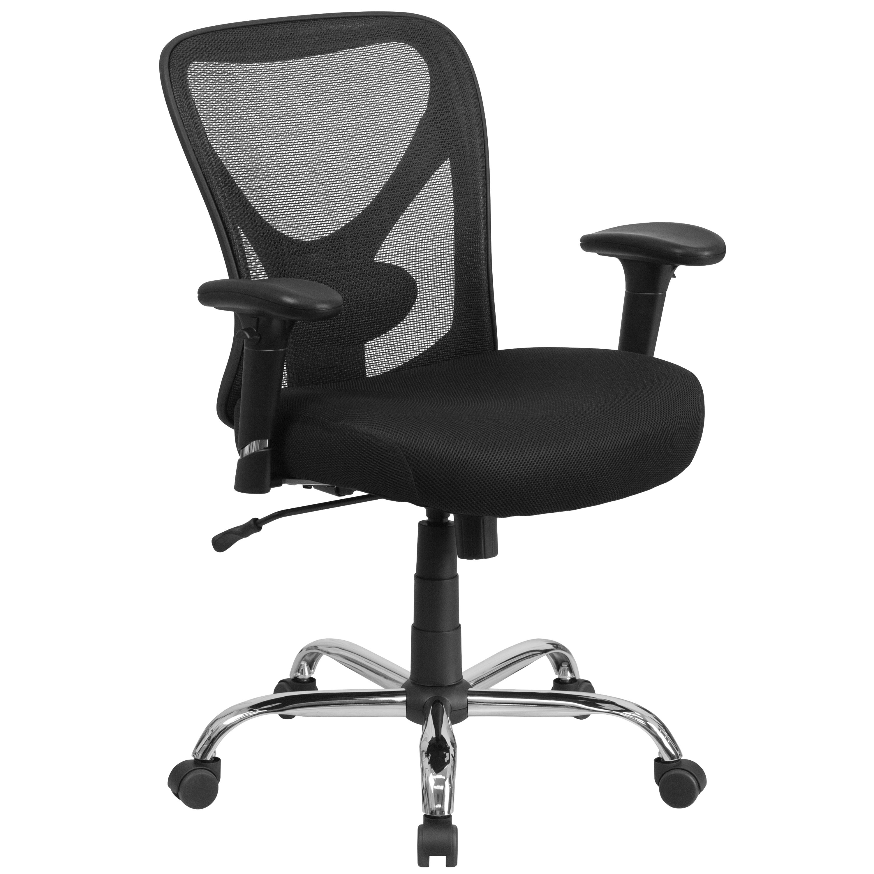 ... Our HERCULES Series Big U0026 Tall 400 Lb. Rated Black Mesh Swivel Task  Chair With ...