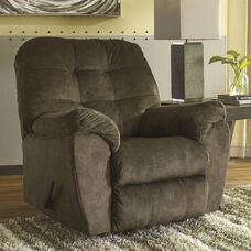 Signature Design by Ashley Accrington Rocker Recliner in Earth Microfiber
