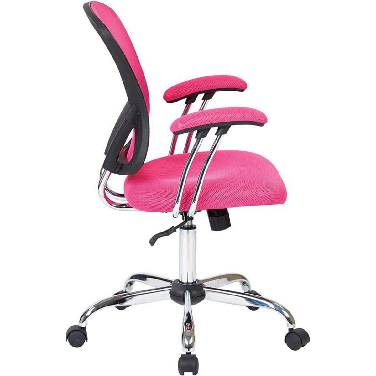 Ave Six Juliana Task Chair With Mesh Seat Pink Inset 1