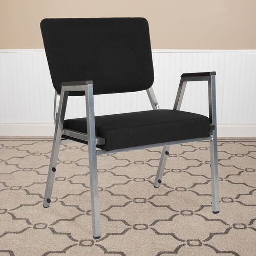 HERCULES Series 1500 lb. Rated Antimicrobial Bariatric Medical Reception Arm Chair with 3/4 Panel Back