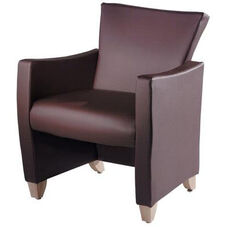 Novella Lounge Chair with Wood Legs