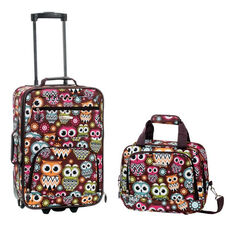 Rockland 2 Pc. Luggage Set - Owl