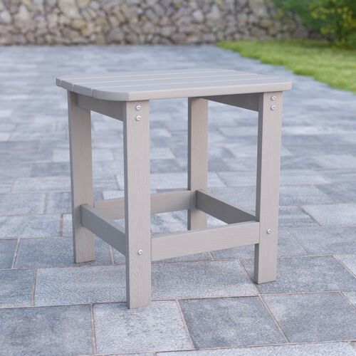 Charlestown All-Weather Poly Resin Wood Adirondack Side Table