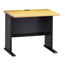 Series A 36'' W Desk - Beech and Slate Gray