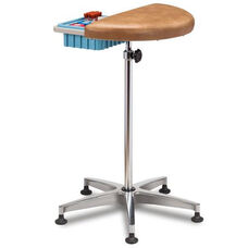 Half Round Stationary Vinyl Padded Phlebotomy Stand with Removable Storage Bin
