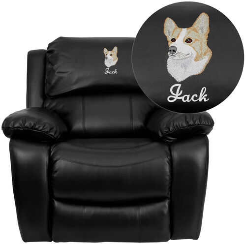 Our Dreamweaver Black Leather Rocker Recliner: Personalized Design is on sale now.