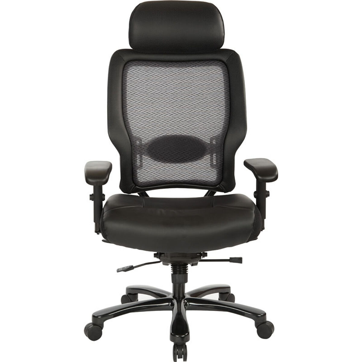 Our E Executive And Tall Bonded Leather Office Chair With Headrest 400 Lb