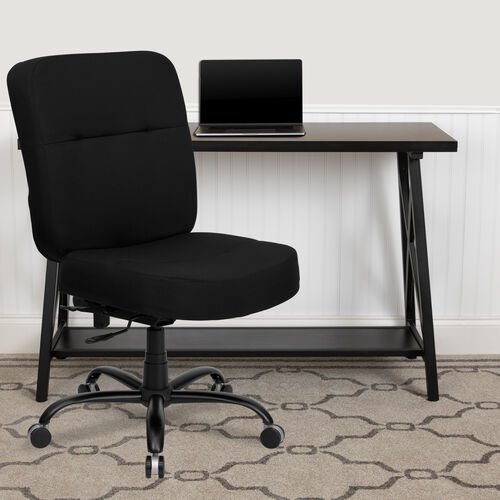 HERCULES Series Big & Tall 400 lb. Rated Executive Swivel Ergonomic Office Chair with Rectangular Back
