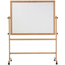 Pro-Rite® Reversible Markerboard and Natural Cork with Wood Trim - 42