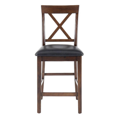 Our Olsen Oak Casual X-Back Stool with Faux Leather Seat Cushion is on sale now.