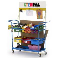 Standard Mobile STEM Maker Station with Cardboard and Materials Storage Rack