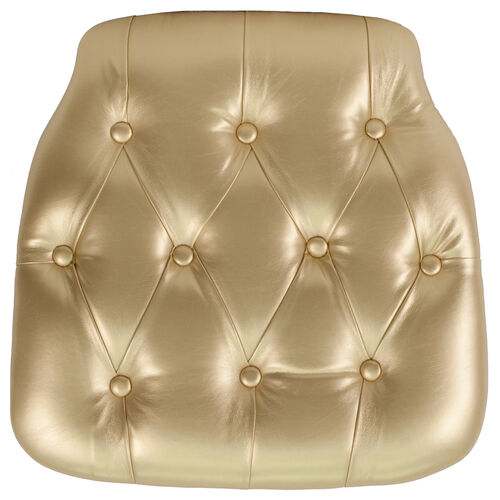 Our Hard Gold Tufted Vinyl Chiavari Chair Cushion is on sale now.