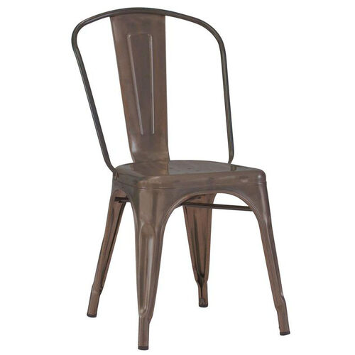 Our Dreux Stackable Rustic Matte Steel Side Chair - Set of 4 is on sale now.