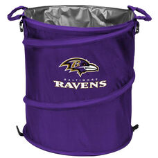 Baltimore Ravens Team Logo Collapsible 3-in-1 Cooler Hamper Wastebasket