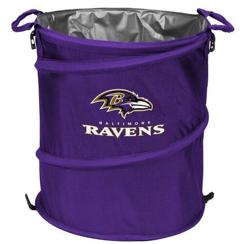 Baltimore Ravens Team Logo Collapsible 3-in-1 Cooler Hamper Wastebasket