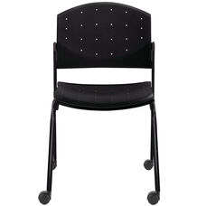 Eddy Armless Stack Side Chair on Casters