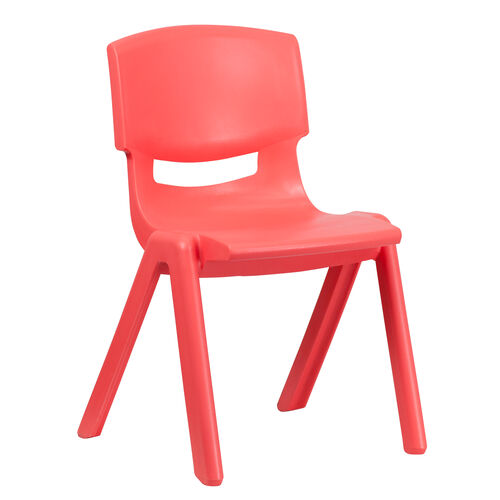 Our Red Plastic Stackable School Chair with 15.5