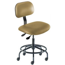 Quick Ship Bridgeport Series Chair with Adjustable Task Controls and Tubular Steel Base - Low Seat Height