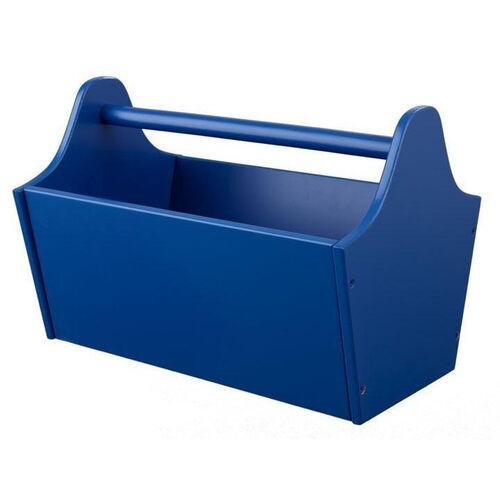 Kids Wooden Storage Toy Caddy - Blue