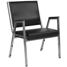 HERCULES Series 1500 lb. Rated Black Antimicrobial Vinyl Bariatric Medical Reception Arm Chair