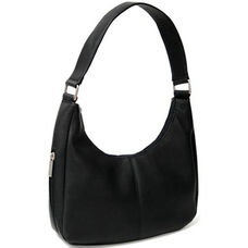 Hobo Bag - Colombian Vaquetta Leather - Black