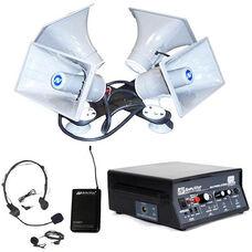 Wireless Quad 50 Watt Sound Cruiser with Wireless Headset and Lapel Microphone - 24