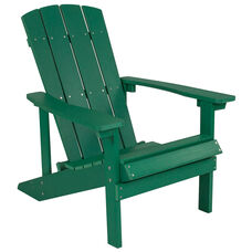 Charlestown All-Weather Adirondack Chair in Green Faux Wood