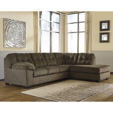 Signature Design by Ashley Accrington 2-Piece Left Side Facing Sofa Sectional in Earth Microfiber