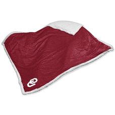 University of Oklahoma Team Logo Sherpa Throw