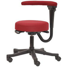 Health 300 Series Basic Swivel Adjustable Height Medical Stool with Arm