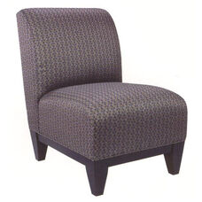 8401 Lounge Chair w/ Wood Base, Upholstered Spring Back & Seat - Grade 2