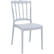 Napoleon Outdoor Resin Stackable Wedding Chair - Silver