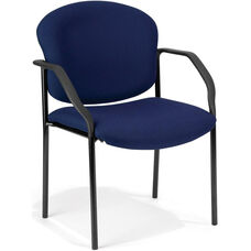 Manor Guest and Reception Fabric Chair with Arms - Navy