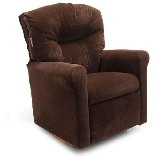 Our Kids Contemporary Micro-Suede Rocker Recliner with Tufted Back - Chocolate is on sale now.