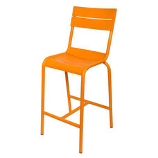Beachcomber Stackable Outdoor Aluminum Armless Barstool - Citrus
